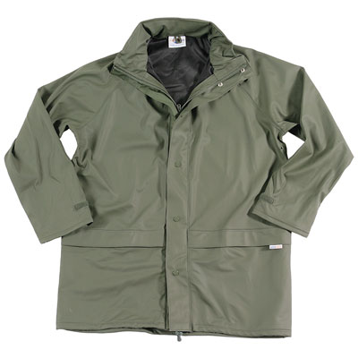 'Flex' Waterproof Stretch PU Jacket - OJAA220-olive