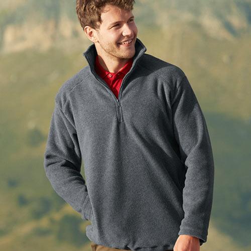 300g 100% Polyester Half Zip Fleece - Half Zip Fleece - SFHZA
