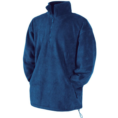 300g 100% Polyester Half Zip Fleece - Half Zip Fleece - SFHZA-royal