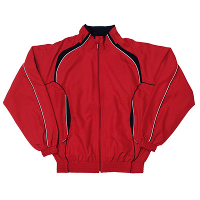 Kids Contrast Track-Suit Top & Bottoms - TTSK02-red