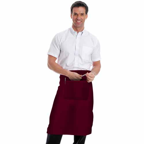 245gsm Waist Apron with Pocket - WAPA01-burgundy