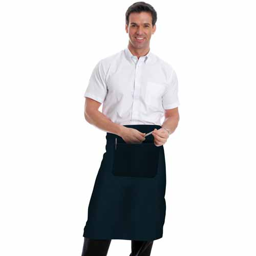 245gsm Waist Apron with Pocket - WAPA01-navy