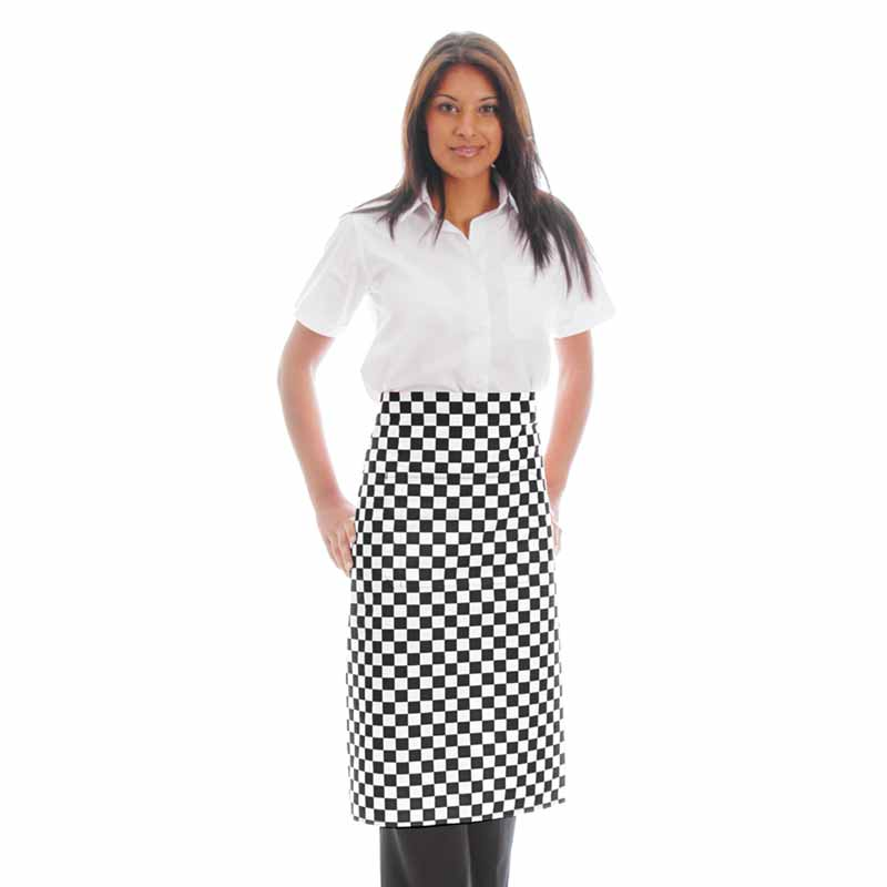 245gsm Waist Apron NO Pocket - WAPA06 245gsm Waist Apron NO Pocket - WAPA06-black-chess