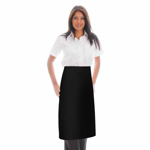 245gsm Waist Apron NO Pocket - WAPA06 245gsm Waist Apron NO Pocket - WAPA06-black