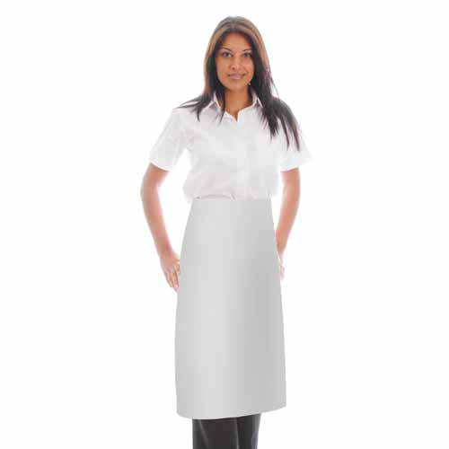 245gsm Waist Apron NO Pocket - WAPA06 245gsm Waist Apron NO Pocket - WAPA06-white