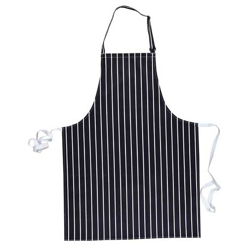 280g Striped Butchers Bib Apron (no pockets) - WAPA839-navy