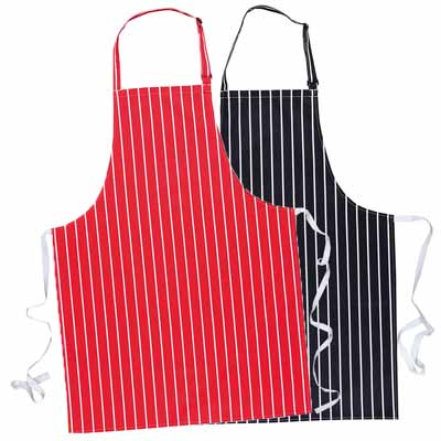 280g Striped Butchers Bib Apron (no pockets) - WAPA839