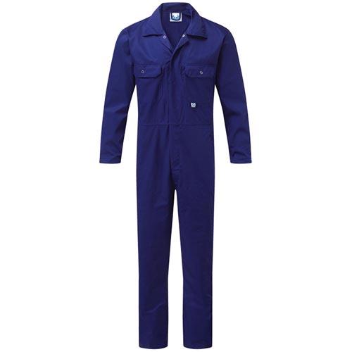 Stud-Front Boiler Suit - WBSA344-royal-blue