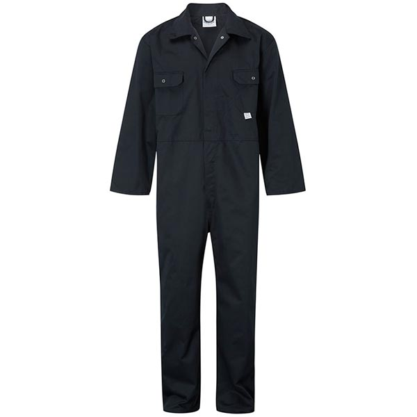 Stud-Front Boiler Suit - WBSA344_navy