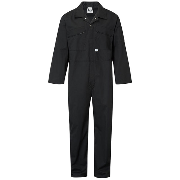 240g Zip-Front Coverall - WBSA366-black Workwear