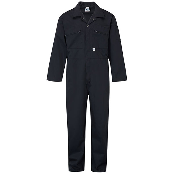 240g Zip-Front Coverall - WBSA366-navy Workwear