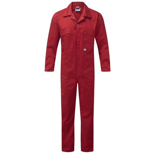 240g Zip-Front Coverall - WBSA366-red Workwear