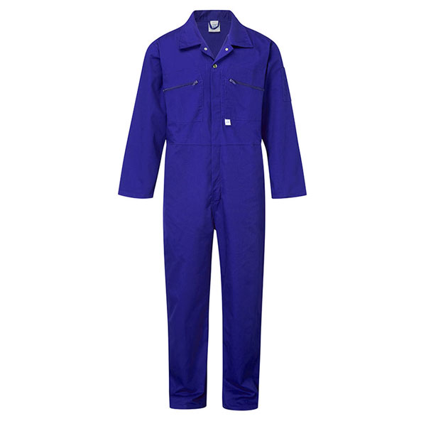 240g Zip-Front Coverall - WBSA366-royal Workwear