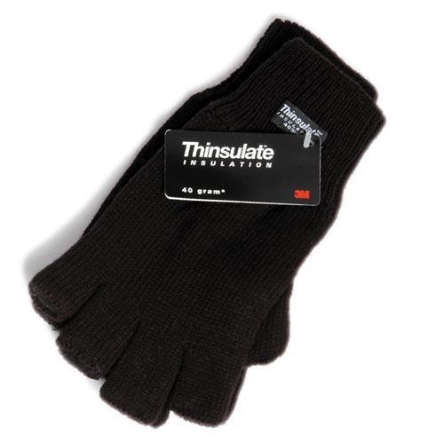 Thinsulate Lined Knitted Fingerless Gloves - WGLA03