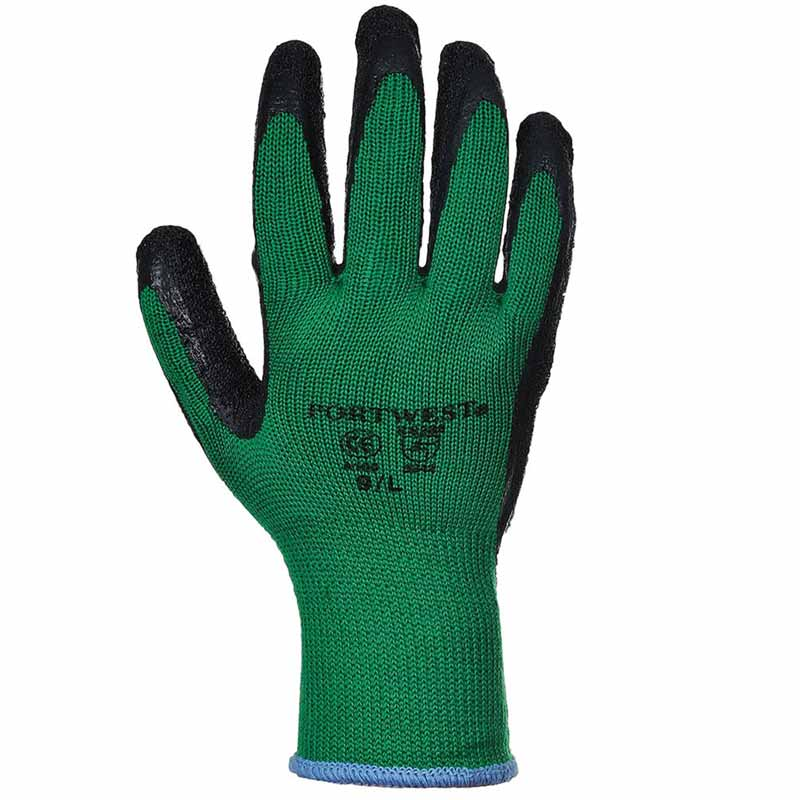 Premium Quality Grip Glove - WGLA100-green-black
