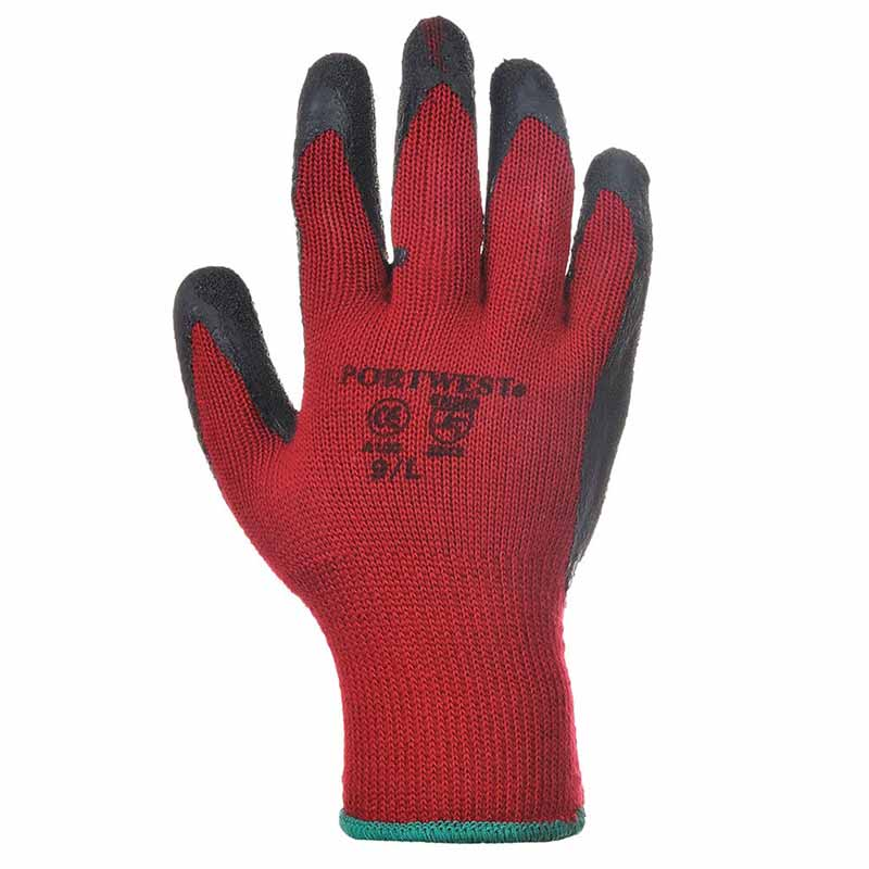 Premium Quality Grip Glove - WGLA100-red-black