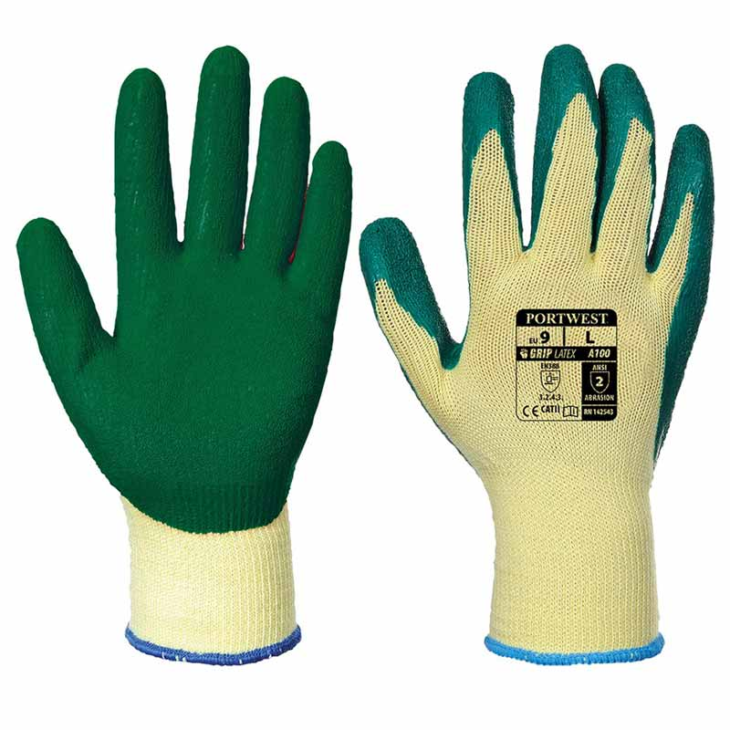 Premium Quality Grip Glove - WGLA100-yellow-green