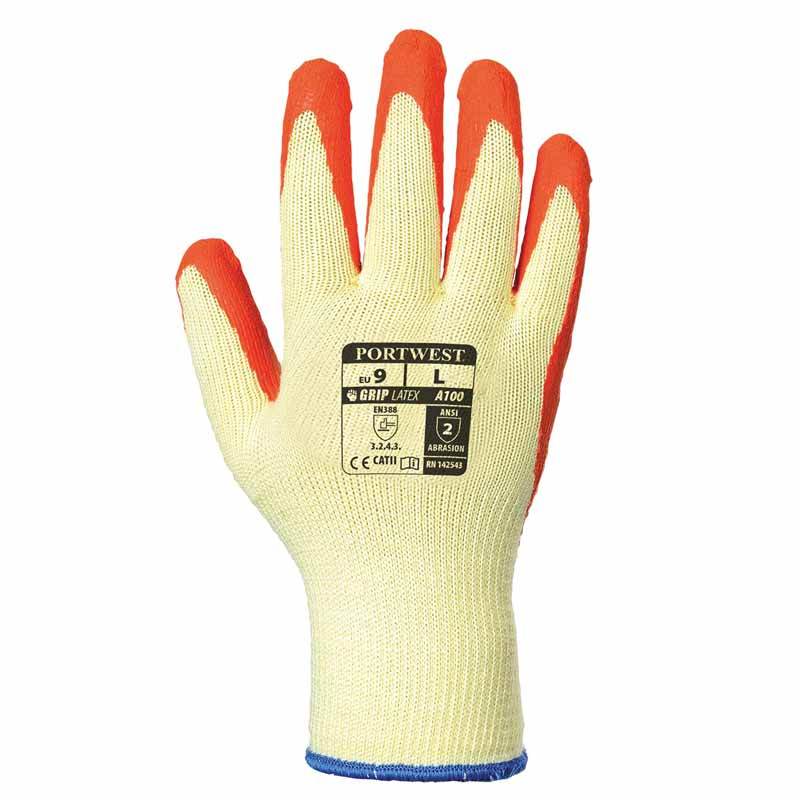 Premium Quality Grip Glove - WGLA100-yellow-orange