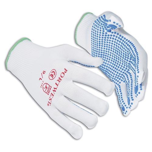 Nylon Polka Dot Enhanced Grip Glove - WGLA110