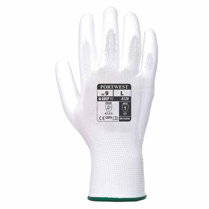 High Dexterity PU Palm Glove - WGLA120-WHITE