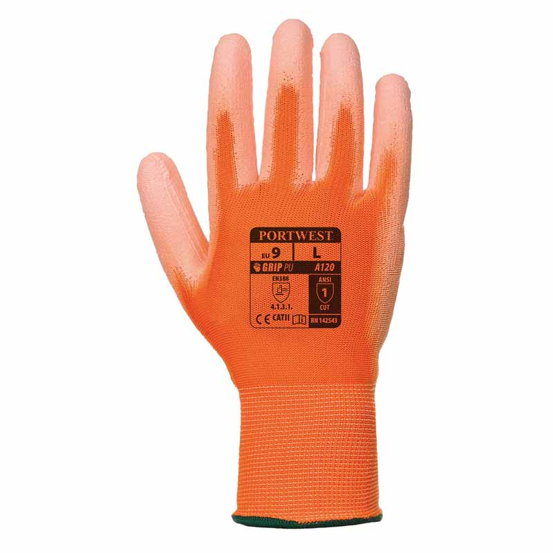 High Dexterity PU Palm Glove - WGLA120-red
