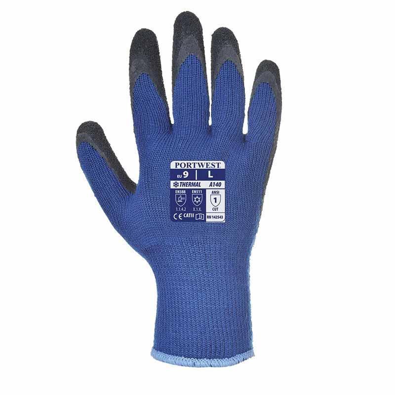 Thermal Grip Glove A140 - WGLA140-blue-black