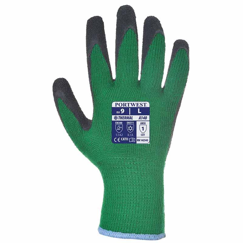 Thermal Grip Glove A140 - WGLA140-green-black