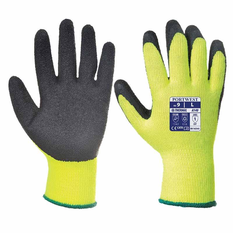 Thermal Grip Glove A140 - WGLA140-yellow2
