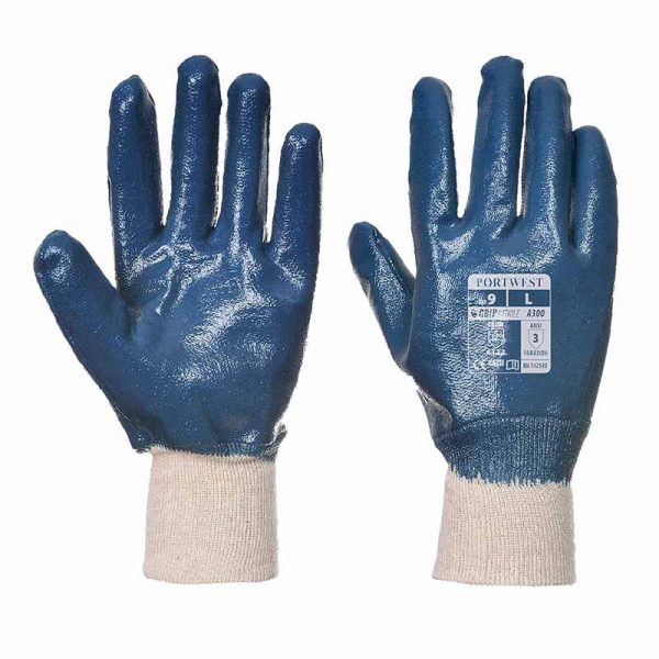 Nitrile Knitwrist Glove - WGLA300