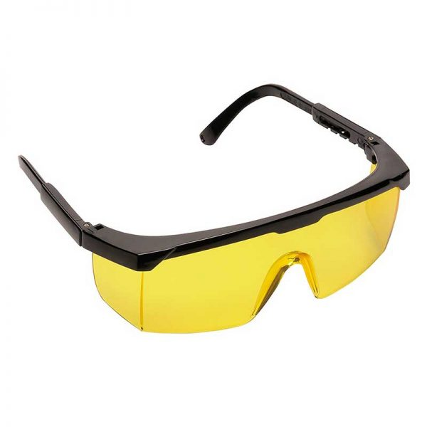 Classic Safety Polycarbonate Eye Screen - WGOA33-Amber-Lens,-Black-Temple