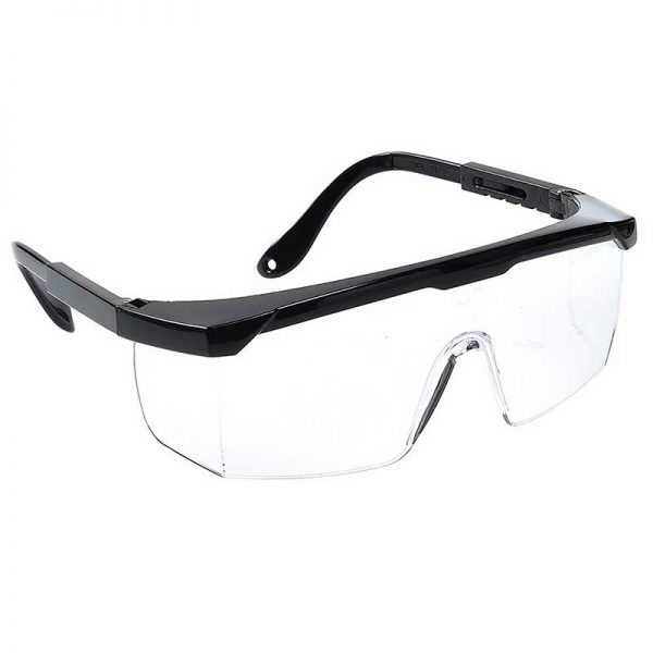 Classic Safety Polycarbonate Eye Screen - WGOA33-Clear-Lens,-Black-Temple