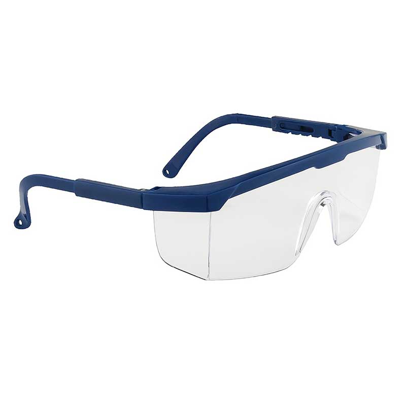Classic Safety Polycarbonate Eye Screen - WGOA33-Clear-Lens,-Blue-Temple