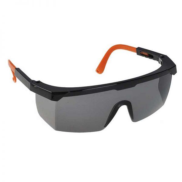 Classic Safety Polycarbonate Eye Screen - WGOA33-Smoke-Lens,-Black-Temple