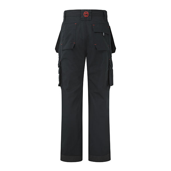 320g 'Extreme' Work PC Canvas Trousers - WTRA700-black_back