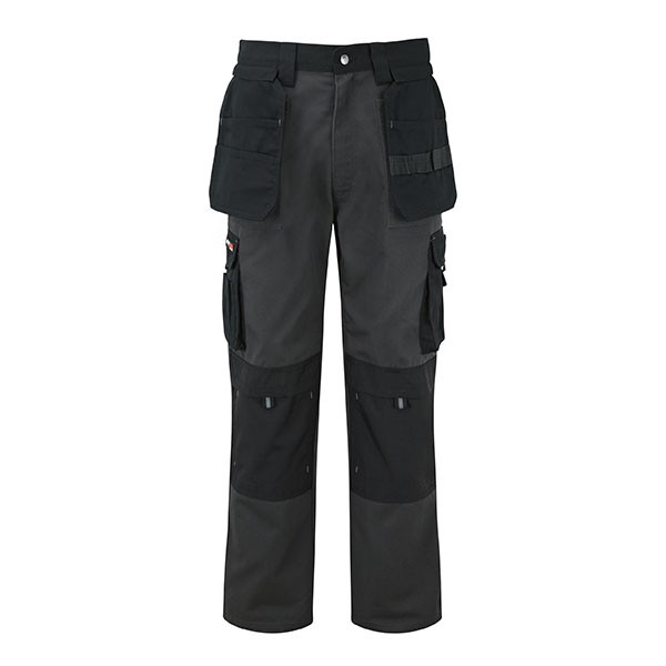 320g 'Extreme' Work PC Canvas Trousers - WTRA700-grey_black