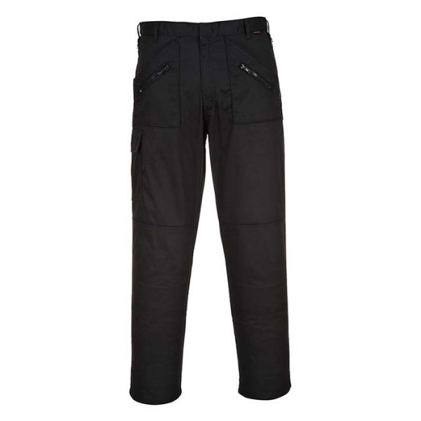 245gsm 'Action' Trouser - WTRA887-black-front