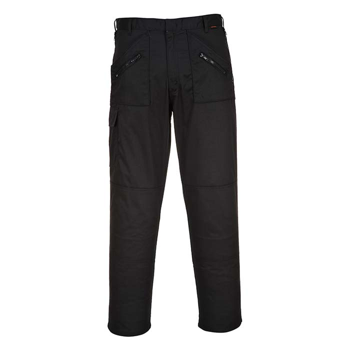 245gsm 'Action' Trouser - WTRA887-black-front