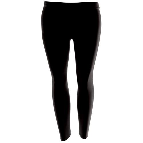 Girls' Hi-Stretch Shiny Leggings-DLEG01S-black