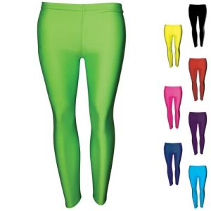 200gsm Girls Hi-Stretch Shiny Leggings - DLEG01S