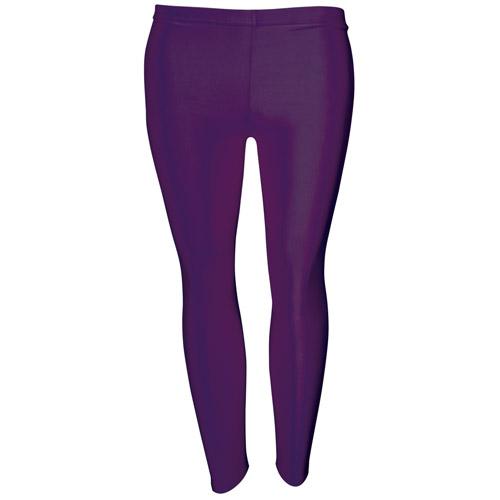 Girls' Hi-Stretch Shiny Leggings-DLEG01S-purple