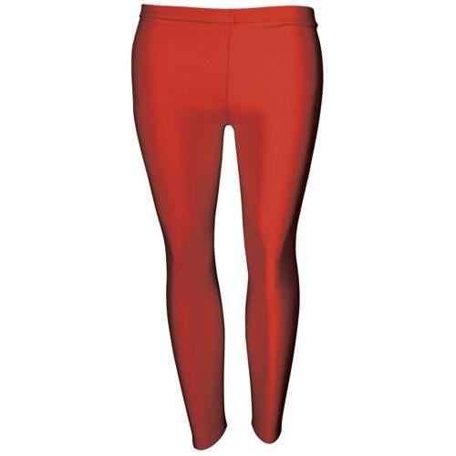 Girls' Hi-Stretch Shiny Leggings-DLEG01S-red
