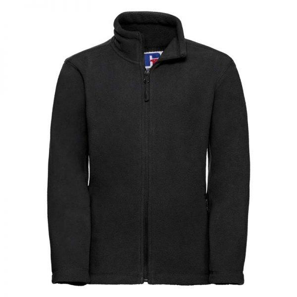 Kids Heavy Full Zip Outdoor Fleece - JFK870-black