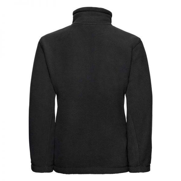 Kids Heavy Full Zip Outdoor Fleece - JFK870-black-back