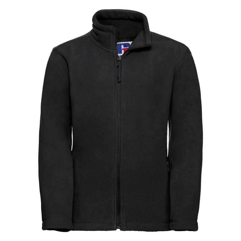 Kids Heavy Full Zip Outdoor Fleece - JFK870-black