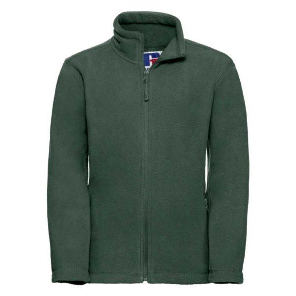 Kids Heavy Full Zip Outdoor Fleece - JFK870-bottle-green