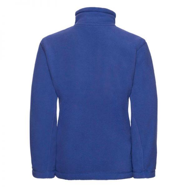 Kids Heavy Full Zip Outdoor Fleece - JFK870-bright-royal-back