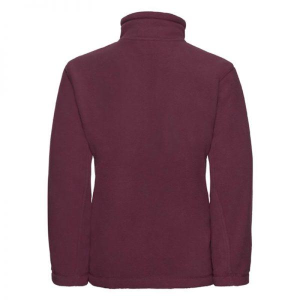Kids Heavy Full Zip Outdoor Fleece - JFK870-burgundy-back