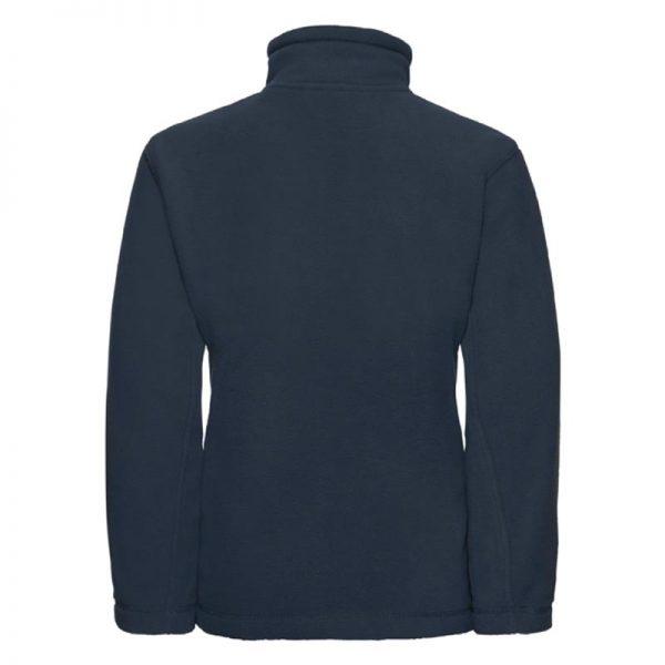 Kids Heavy Full Zip Outdoor Fleece - JFK870-french-navy-back