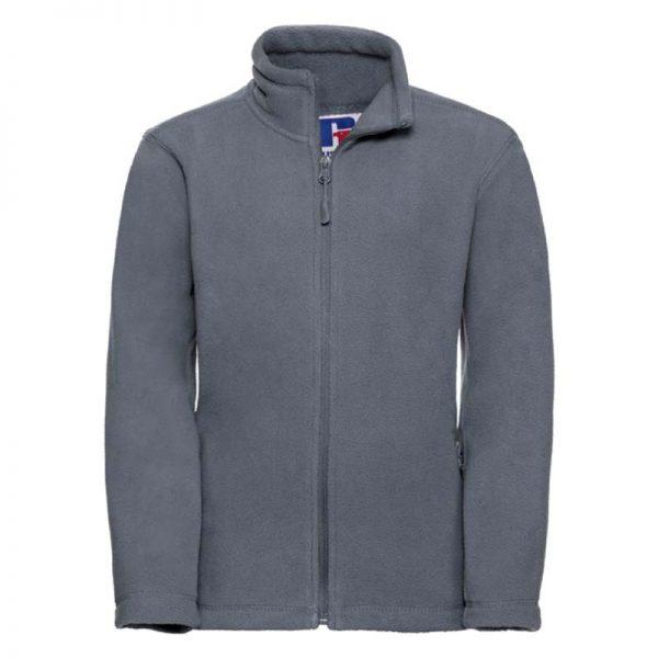 Kids Heavy Full Zip Outdoor Fleece - JFK870-grey