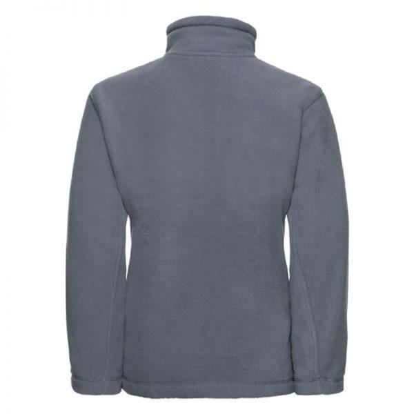 Kids Heavy Full Zip Outdoor Fleece - JFK870-grey-back